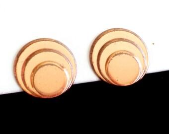 Modernist Renoir Earrings, Vintage RENOIR Copper Clip Earrings, Renoir Earrings, Vintage Copper Earrings, Modernist Copper, Mid Century