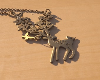 Nature Themed Deer Necklace