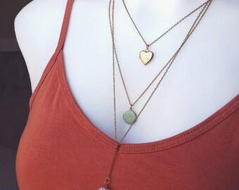 Bohemian Multi-Strand Necklace Locket Nautilus Pendant Layered - The Nautilus.