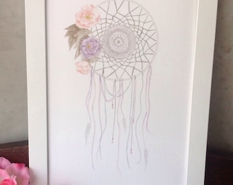 Gorgeous dream catcher print