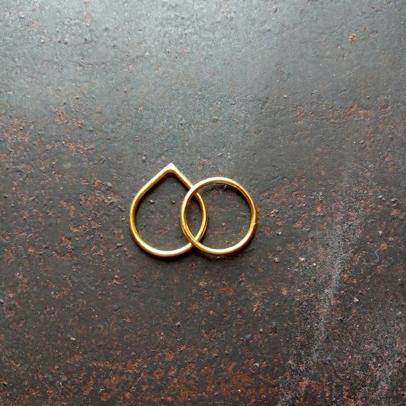 Ring Drahtring Ringe Golg gefüllt Ring Statik Ring | Etsy