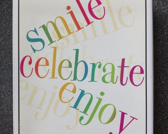Great Words Hero Arts Stamp Set Smile Celebrate Joy LL999