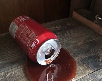 Fake Spilled Pop in a 12 oz Coca Cola Can Gag Fun Prop April Fools Day
