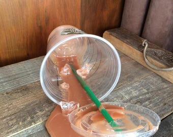 Fake Spilled Iced Coffee Frappe SB Fun Prop Gag