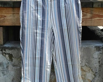 Vintage made in usa striped capris