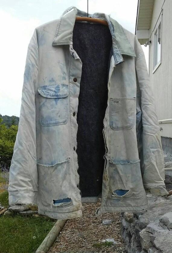 Vintage 50s Blue Bell Chore Coat. Oversize vintage