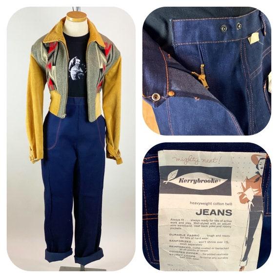 Vintage 1950s DEADSTOCK Side Zipper Jeans Dungaree