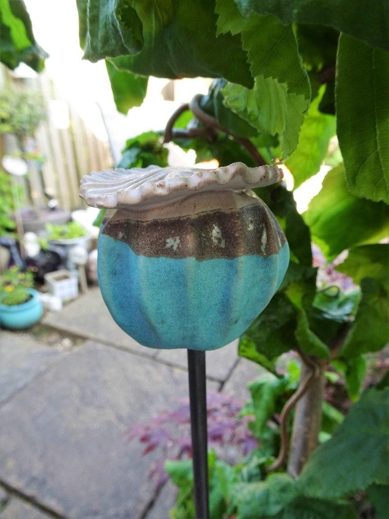 Gartenkunst, Keramik Garten Pfahl, handgemachte Gartenskulptur,  Pflanzenunterstützung, Garten Ornament, maßgeschneiderte Garten Keramik,  Keramik, ...