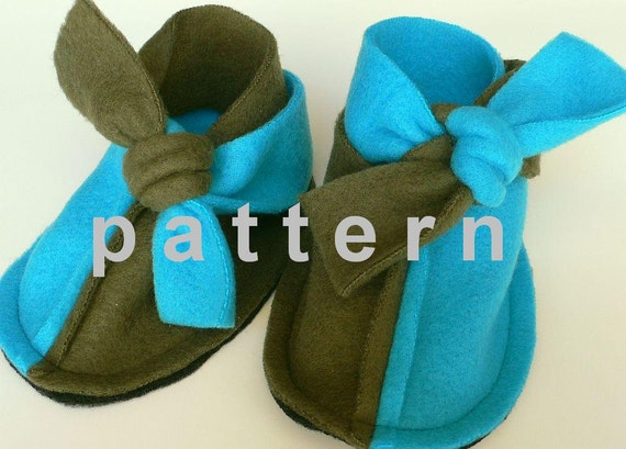 Baby Booties Pattern Super Easy Sewing Tutorial In English Etsy