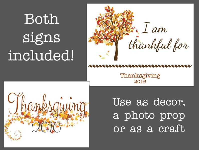 graphic regarding Happy Thanksgiving Signs Printable named Printable Thanksgiving Working day Signal or Image Prop, Employ the service of as a grateful for craft, College Cl THanksgiving craft,Because of decor or envision prop
