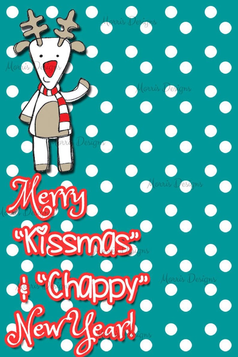 Printable Merry Kissmas and Chappy New year Digital Tag ...