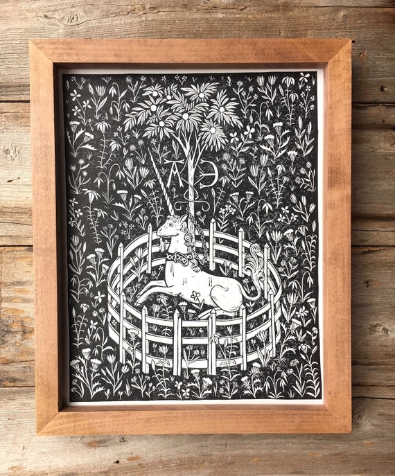 Unknown The Unicorn in Captivity Wall Art Poster Print