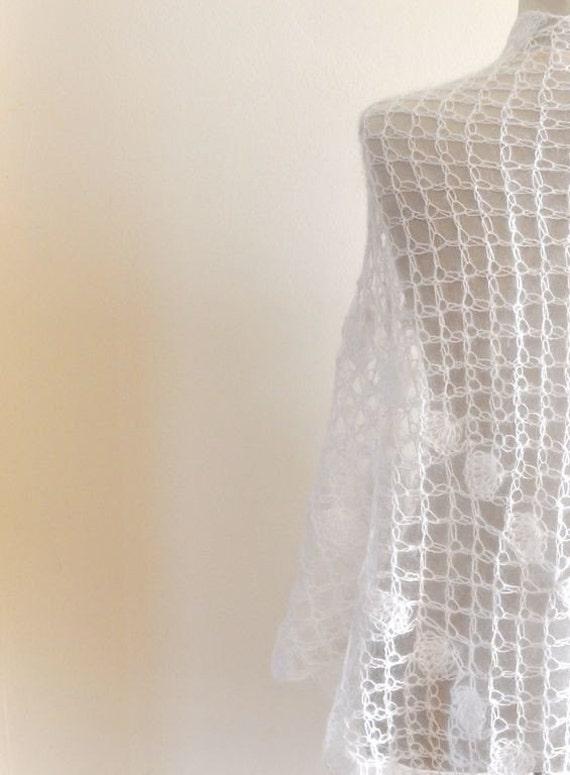 Ganchillo chal Mohair blanco bodas estola delicada novia damas   Etsy