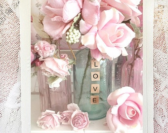Pink Roses Note Cards, Shabby Chic Note Cards, Roses & Love Notecard, Flower Note Cards, Love Roses Photo Note Cards, Shabby Chic Roses Card