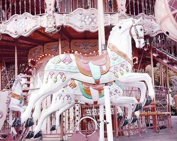 Paris Carousel Horses Photography, Merry Go Round Baby Bedding