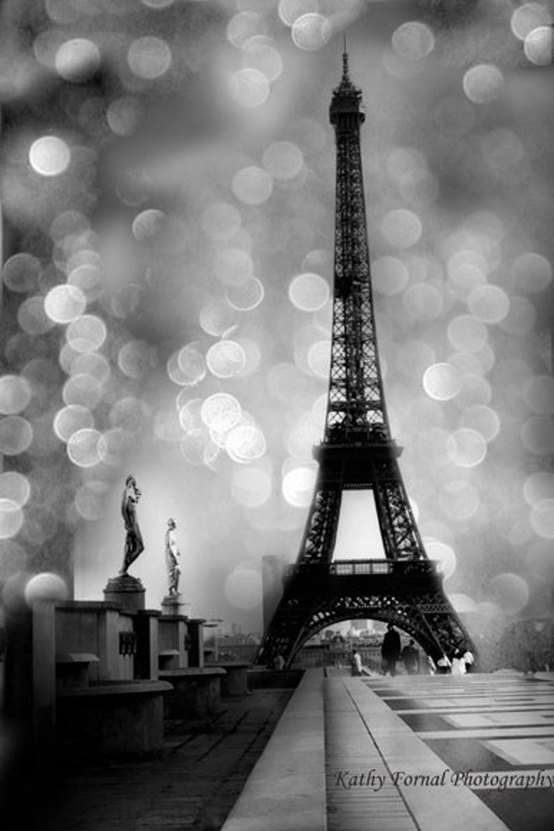 Eiffel tower black white photography paris black and white etsy