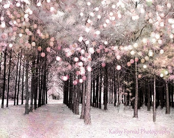 Nature Photography, Fairytale Dreamy Nature Print, Baby Girl Nursery Nature Decor, Fantasy Pink Nature Art, Kids Room Fairytale Nature Print