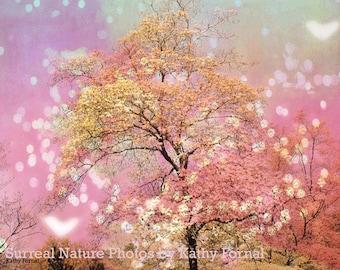 Baby Girl Nursery Decor, Nature Photography, Dreamy Baby Pink Nursery Art, Shabby Chic Nature, Fairytale Baby Girls Room Nature Print Decor