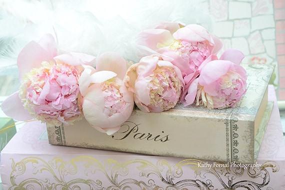 Paris Pfingstrose Drucke Romantische Pfingstrosen Paris Rosa Etsy