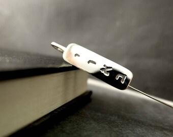 Personalized Hebrew Bookmark — Sterling Silver Hebrew Name Bookmark — Bar Mitzvah or Bat Mitzvah Gift