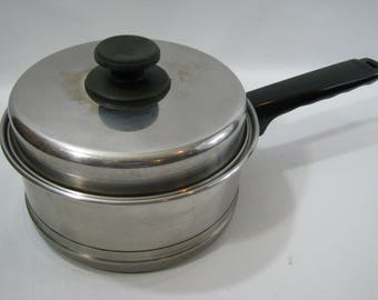 Vintage Lifetime 18 / 8 Stainless Steel 1 1/2 Quart Sauce Pan with Lid