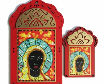 OUR LADY of New Beginnings, Black Madonna, Icon, Divine Mother, Christina Miller Artist