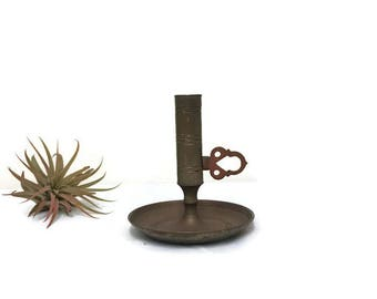 Small Brass Turnkey Candle Holder from Malm