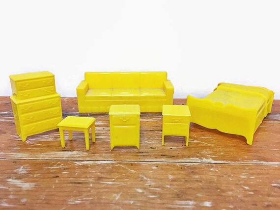 Vintage Marx Plastic Dollhouse Furniture Couch Bed Etsy
