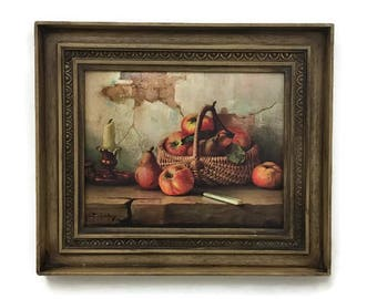 Vintage Still Life with Apples Framed Print - Robert Chailloux - 1960s