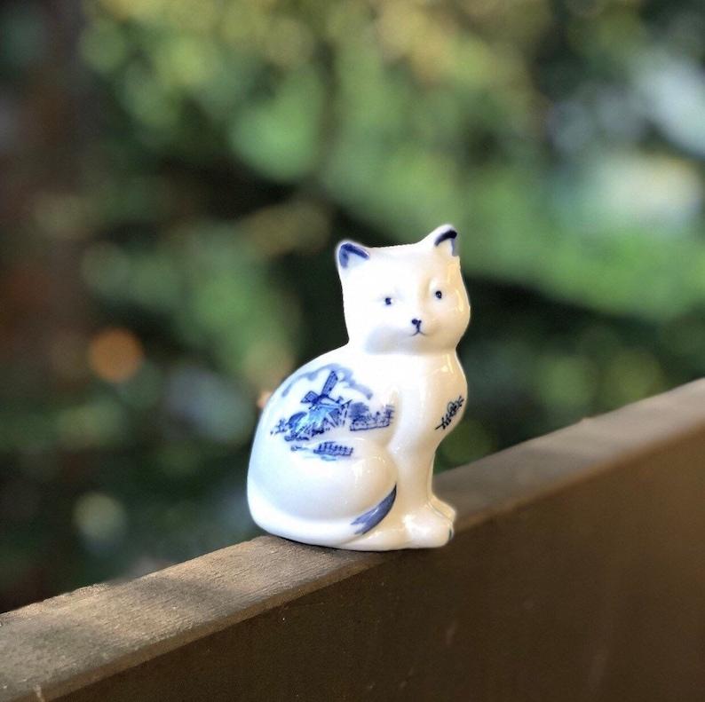 9f80c92207 Blue and White Delft Cat Figurine