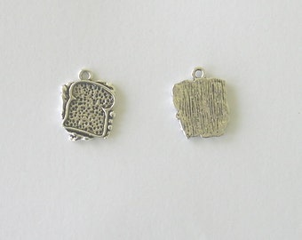 Sandwich, Pewter Charm, Lot of 10 pieces, 1.5mm thick x 15mm x 18mm AP97-10