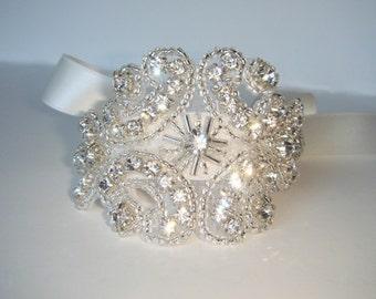 Isabella Bridal Cuff Bracelet, Rhinestone Cuff, Cuff, Wedding Cuff,  Wedding Bracelet, Bridal Accessories, Bridal Cuff, Wedding Jewelry
