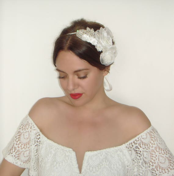 Headpieces For Weddings Australia: Bridal Headband Wedding Headpiece Flower Headband Crystal