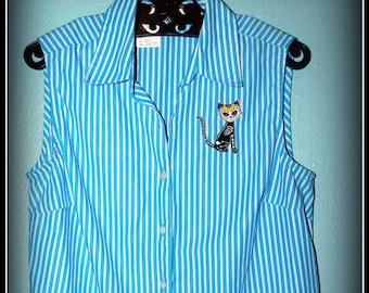 1950s Reproduction Kitten Top..... Size M/L