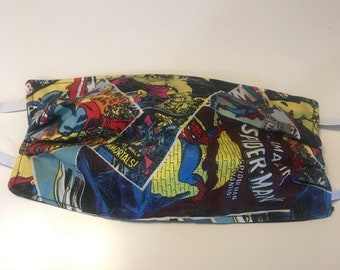 Vintage Comics Face Mask Reuseable Double Sided Fabric