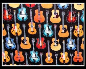 Betty Bandana in Acustic Guitars & Turquoise