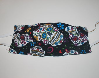 Sugar Skulls Double Sided Reuseable Fabric Mask