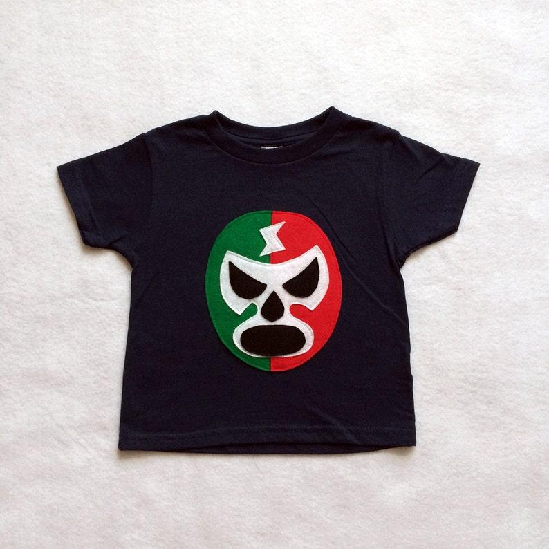 d4e8ca3f05bfc Mexican Wrestler Kids T-shirt - Luchador Rojo + Verde - Lucha Libre - Kids  T-Shirt