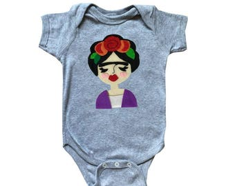 Frida Infant Bodysuit - Gray