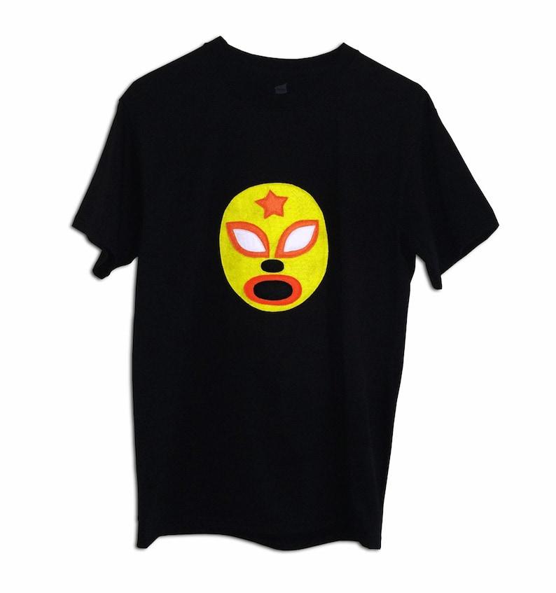 489444adfcebd Luchador Amarillo - Yellow Mexican Wrestler Men's T-Shirt
