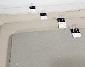 1 sheet - Gray Tone Heavyweight Paper - Mixed fibers - Coarse tooth - Cold press - Grade B/Seconds