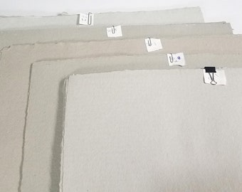 1 sheet - Sage Gray Tone Heavyweight Paper - Mixed fibers - Coarse tooth - Cold press - OVERSTOCK!