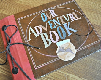 8x10 Our Adventure Book hand bound blank album with handmade paper pages