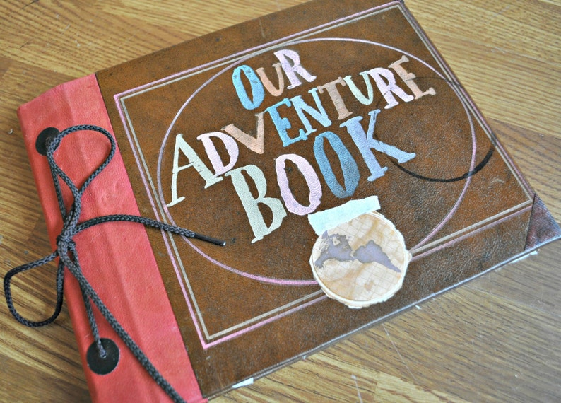 8x10 Our Adventure Book hand bound blank album with handmade image 1