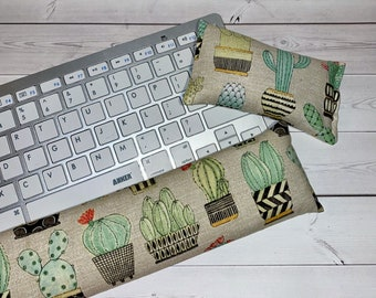 succulents mouse pad Keyboard rest and or WRIST REST  MousePad set  - coworker gift - office Desk Accessories