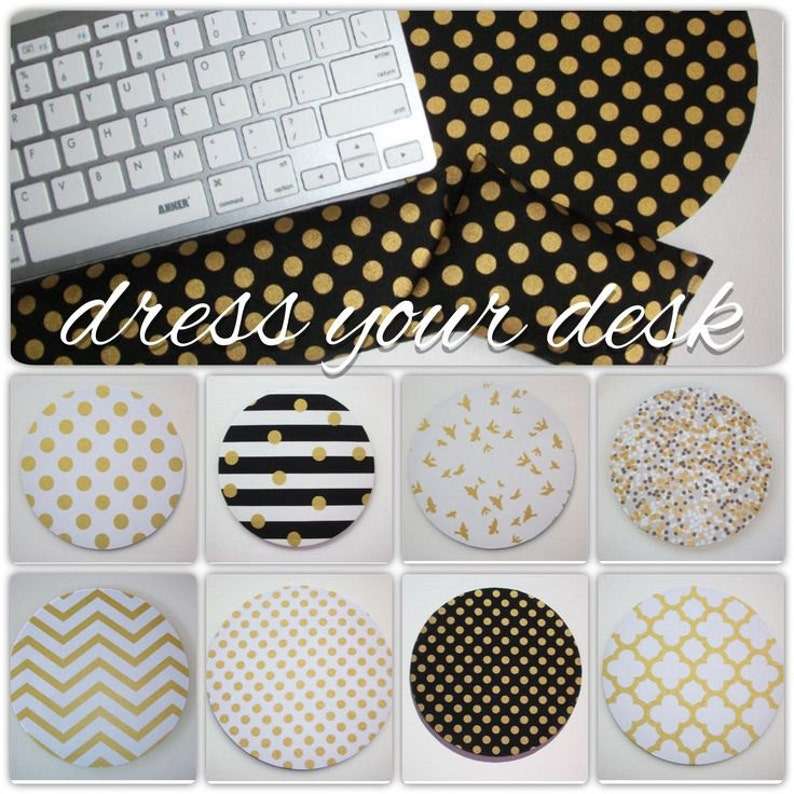 metallic gold Keyboard rest and / or WRIST REST for MousePads image 0