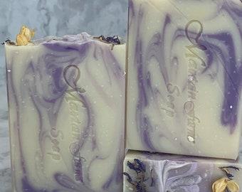 Handmade Shea Butter Soap - Lavender Chamomile Soap - Moisturizing Soap - Gift For Her Soap - Vegan Soap - Zero Waste Soap