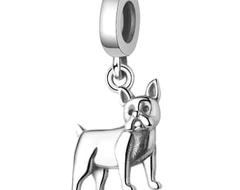 d0708662d Boston Terrier Dog Sterling Silver European Bead Charm