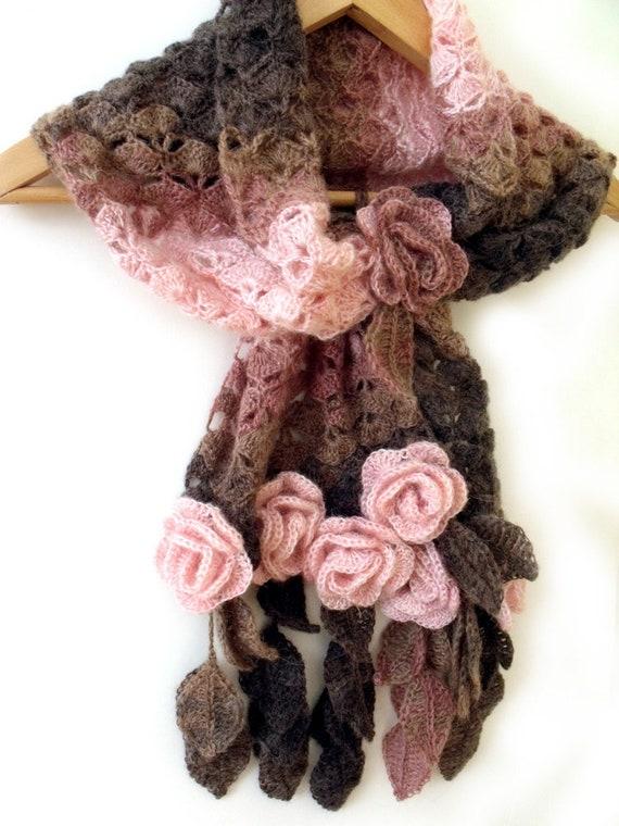 Spitzen Häkelschal Häkeln Blume Schal Gebet Schal Freiform Etsy