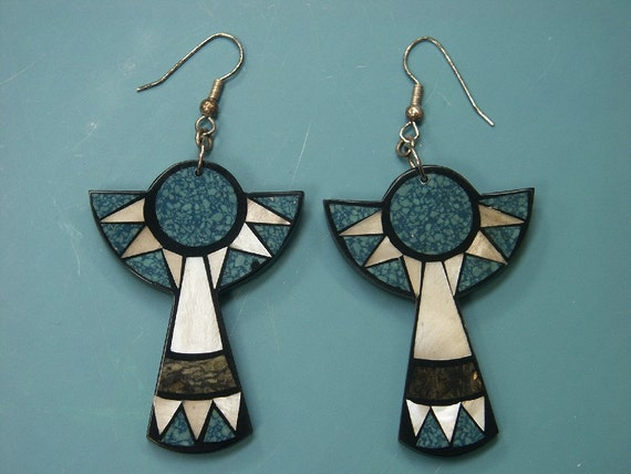 Rare beautiful collectible vintage 1980s unused earringsclips designed by worldknown Hawaiian designerartist Lee Sands